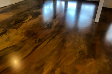 Metallic Epoxy Staining Commercial Office Building