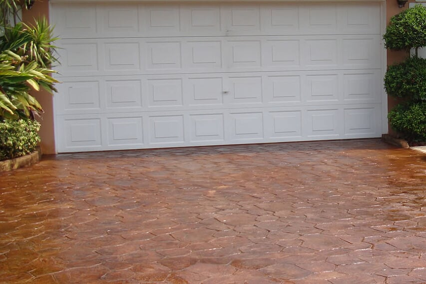 Stamped Concrete on your driveway or patio in Rockwall, TX